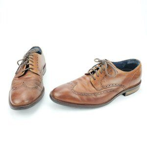 Cole Haan Grand.Os Leather Wingtip Dress Shoes